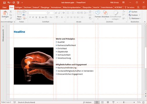 PowerPoint | Platzhalter anordnen – mikschulz